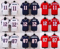 Wholesale Cheap American Football Shirts - CHEAP American football jerseys Tom Brady Julian Edelman Rob Gronkowski Brandin Cooks Jimmy Garoppolo shirts Customized throwback jersey 4xl