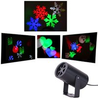 living cards wholesale 2018 - New led wall decoration laser light LED pattern lights, rgb colour 4 pattern card change lamp Projector Showers led laser light for holiday
