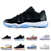 Wholesale Shoes Big Rhinestones - Air retro 11 XI Athletic Shoes Barons bred space jam concord Girl big boy shoes Citrus retro 11s low sports shoes sneakers Euro 36-47