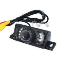 ingrosso sensore della telecamera posteriore-2014 Vendita calda Wireless per GPS per auto con 7 LED IR Telecamera per retrovisione impermeabile Sensore di parcheggio per retromarcia impermeabile, freeship