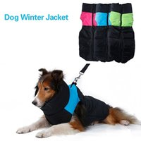 Wholesale Ring Vest - Pet supplies Winter warm Dog clothes Large Dog Jackets waterproof Zipper up dog coats with D Ring 3 colors 5 sizes