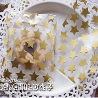 Wholesale Cookies Packaging Christmas - Wholesale- 100pcs lot White and Goden Clear Star OPP DIY Christmas Wedding Gift Packaging Bags Candy and Cookie Baking Package Bag BZ013