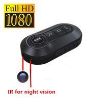 Wholesale Car Remote Key Mini Spy - 1080P HD Spy Car Key Remote Hidden Camera With Metal Body Motion Detection Night Vision Key DVR Portable Candid Camera Mini Spy Gadget
