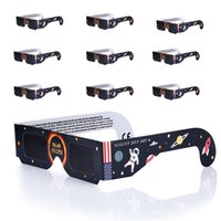 Wholesale Paper Solar Eclipse Glasses Safe Solar Viewing Eye Mixed Color for August st America Protect Your Eyes Seeing Solar Eclips