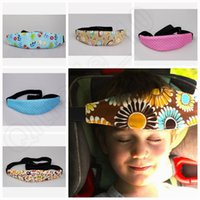 Wholesale Convertible Cars - LLA191 12 Colors Adjustable Aid Hot Head Support Holder Strip Car Cart Seat Safety Nap Sleep Belt 300pcs