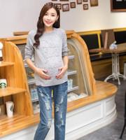 Wholesale Warm Winter Maternity Pants - Winter thick warm fleece Elastic Waist 100% Cotton Maternity Jeans Pants For Pregnancy Clothes For Pregnant Women Legging