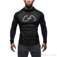 Wholesale Cardigan Men Wear - New Mens Bodybuilding Hoodies Gym Workout Shirts Hooded Sport Suits Tracksuit Men Chandal Hombre Gorilla wear Animal