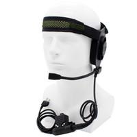 auriculares elite ii al por mayor-Al por mayor-HD01 Z Tactical Bowman Elite II Headset con U94 Style Pfor Midland 2 Pin Radios G6 G7 GXT550 GXT650 LXT80 LXT112 LXT435