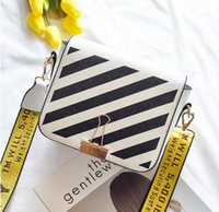 Wholesale Tote Matching Handbag - hot sell design off white bags women handbag super chic blogger love lady shoulder bags easy matching stripe girls bags