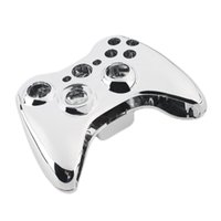 Wholesale Gold Shell Xbox - Custom Chrome Silver Modded Full Shell Housing with Full Chrome Gold Buttons Inserts Accessoriesfor Xbox 360 Wireless Controller