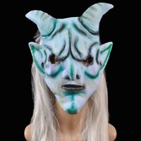 Wholesale Goat Prop - Cosplay Halloween animal masks New Arrival Creepy sheep Mask Head Goat Sheep Head Latex Mask Party Animal Toy Prop cs1010