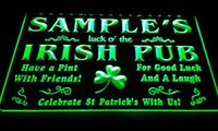 Wholesale Led Name Lights - LS594-g Name Personalized Custom Luck o' the Irish Pub St Neon Light Sign.jpg