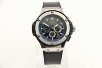 relógio de pulso venda por atacado-Atacado homens de luxo de aço inoxidável relógio automático mens mecânica esporte relógios pulseira de couro com fecho original