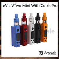 Wholesale Evic Original - Joyetech eVic VTwo Mini with Cubis Pro Kit Upgradeable Firmware With 75W eVic VTwo Mini Mod Cubis Pro Atomizer Custom Logo 100% Original