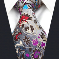 Wholesale Mens Necktie Pattern - P12 Fashion Floral Pattern Multicolor Mens Ties Necktie 100% Silk Extra Long Size New Jacquard Woven