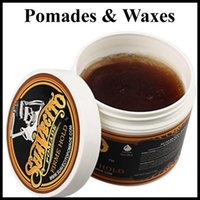 Wholesale Hair Wax Wholesale - Suavecito Pomade Hair Gel Style firme hold Pomades Waxes Strong hold restoring ancient ways big skeleton hair slicked back hair oil wax mud