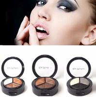 freie nackte palette großhandel-Makeup Naked Eyeshadow Palette 3 Farben Smoky Kosmetik Set Professionelle Natürliche Matte Lidschatten-palette Bilden Glitter Kostenloser Versand