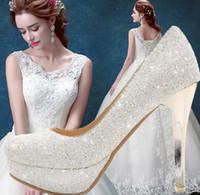 Wholesale Club Heels - Elegant Bridal Wedding Shoes 11CM High Heel Shoes Pumps Rhinestone Princess Shoe Party Club Shoes