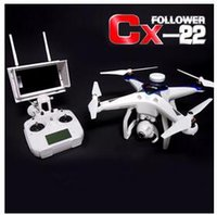Wholesale Circle Video - The latest professional aerial Cheerson CX22 Follower 5.8G Dual GPS FPV Witouth 1080P Camera Quadcopter+Circle Hovering+High-end design Fact