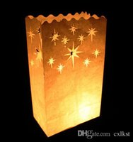 Party outdoor tealight lanterns - Star Constellation Party Candle White Bag Lantern Night Outdoor Tealight gift Good Quality Brand New