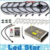 20m 30m 10m 5m LED 5050 Sueño de colores RGB IP67 impermeable mágico 133 + adaptador de RF IC6803 Controller + Remote Power nave libre