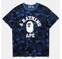 Wholesale Style For Men Tees - 2017 new style Kanye West designer virgil abloh shark t shirt skull marble 3d printed brand tshirt for men women casual tees