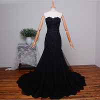 Wholesale Sweetheart European Prom Dress - Real Photo Sweetheart Evening Dresses Corset Back Mermaid Design With Applique Young Ladies Prom Gown With Beads European Style