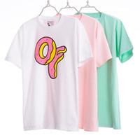 Wholesale Odd Future Donuts - OFWGKA T Shirt Men Hip Hop Summer Street 1:1 High Quality Ofwgkta Donuts T-shirts OF Harajuku Tee Shirt Skate Palace Odd Future