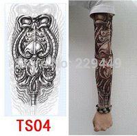 Wholesale temporary tattoo sticker sex - 4pcs Temporary 3d Tattoo Sticker for men Fake 3D Tattoo Sleeve Body Arm Tatoo Tattoo For Men Women Sex Product Freeshipping