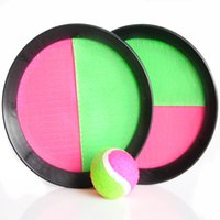 Wholesale Out door sports Sucker Sticky Ball Racket Sports Parent child interactive games children toy gift Puzzle games
