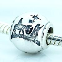 Wholesale Nights Zodiac - 2016 Silent Night Silver 100% 925 Sterling Silver Bead Fit Pandora Fashion Jewelry DIY Charm Brand