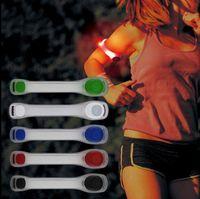 laufband leuchtend großhandel-Laufen Sport Arm Band LED Luminous Armband Nachtlauf Lichter Sicher Radfahren Ausrüstung Leggings Reflektierende Armbänder KKA3118