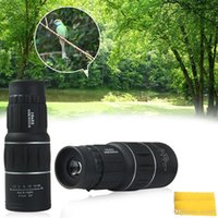 Wholesale Monocular 16x52 - New Generation Dual Focus! 16x52 Zoom In 66M 8000M Field Monocular Telescope Sports Hunting Concert Spotting Scope with Green Film