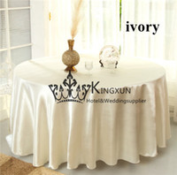 Wholesale Ivory Satin Table Cloths - 10pcs Ivory Color Satin Table Cloth For Wedding Decoration