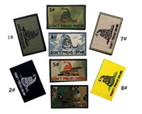 Wholesale VP High quality Embroidered DON T TREAD ON ME patches Tactical D Patch snake Combat Badge Fabric Armband Badges sew on patch