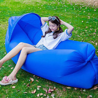 Wholesale Wholesale Airbed - 2017 NEW creative multifunction air sofa outdoor sleeping bag sand beach sunshade airbed black-awning boat model