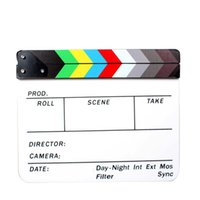 All'ingrosso-Film Film Clapper Board Slate Commedia Clapboard Dry Erase Regista 9.6 * 11.7