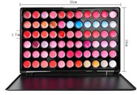 Wholesale Professional 66 Lipstick - Professional Beauty 66 Colors Lip Gloss Lipstick Cosmetic Makeup Lipgloss Lips Palette ree shipping DHL 60220