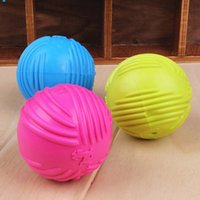 shipping brand new dog puppy cat pet led squeaky squeaker rubber chew bell ball fun toy toys uk