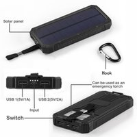 Top FULL6000mAh Portable Solar Power Bank Bateria de carregador de backup LED USB duplo