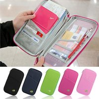 Wholesale Credit Card Storage - Wholesale- 1PC Oxford cloth Passport Credit ID Card Cash Organizer For Travel Storage Bags