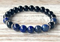 Wholesale Lapis Heart - SN1053 AAA Black Onyx Grade Lapis Lazuli Bracelet Heart Chakra Yoga Jewelry Protection Emotional Balance Self Expression Jewelry