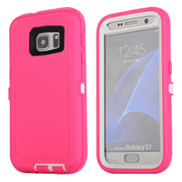 Wholesale Belt Clip S5 - for Samsung Galaxy i9600 S5 S6 S6EdgeS7 Case Hybrid Rubber Rugged Hard Impact Case Screen Protector Built-in With Belt Back Clip