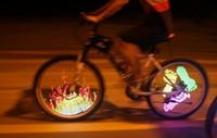 колесный велосипед diy оптовых-Новое поступление DIY велосипед говорил велосипед шины колеса свет программируемый светодиодный двухсторонний экран изображение ночной езды на велосипеде