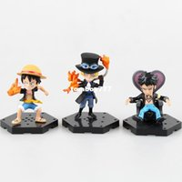 Wholesale one piece law toys for sale - NEW hot cm set Q version One piece ace Sabo luffy Trafalgar Law action figure toys doll collection Christmas toy