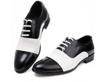 Wholesale Men Wedding Dresses Prices - Hot sale lowest price 2016 Black Patent Leather Shoes Men Pointed Toe Dress Shoes Breathable Fashion Male Wedding Shoes Men's Flat Rubber so