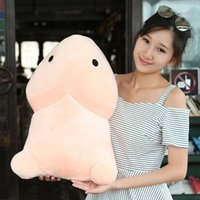 Wholesale Toys Genitals - Plush Penis Toys Soft Stuffed Funny Plush Simulation Penis Dolls Gift for Girlfriend Genitals Pillow Cushion 10-50cm
