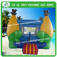Wholesale Mini Bouncer - Mini inflatable bouncer with corn design for children