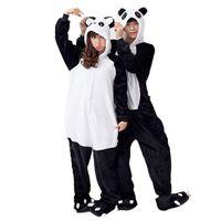 Wholesale One Piece Summer Pajamas - women Panda Onesies for adults sleep lounge pajamas Panda sleepwear Flannel Animal pajamas one piece