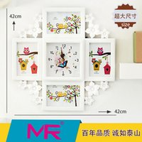 Wholesale Picture Mounts - 7inch Family photo frame EU fashionable style multi - size ABS eco - friendly material picture frame can be wall mounted or stand alone deco